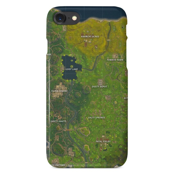 sneakers for cheap 57541 e2434 Fortnite Popular Video Game Map Phone Case NWT